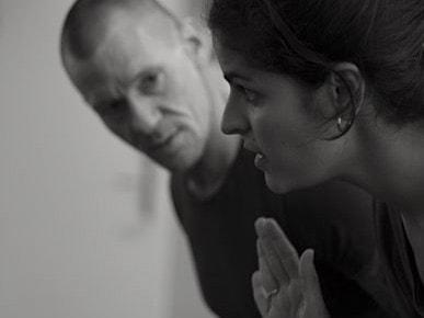 Faizah and Maurice in rehearsal